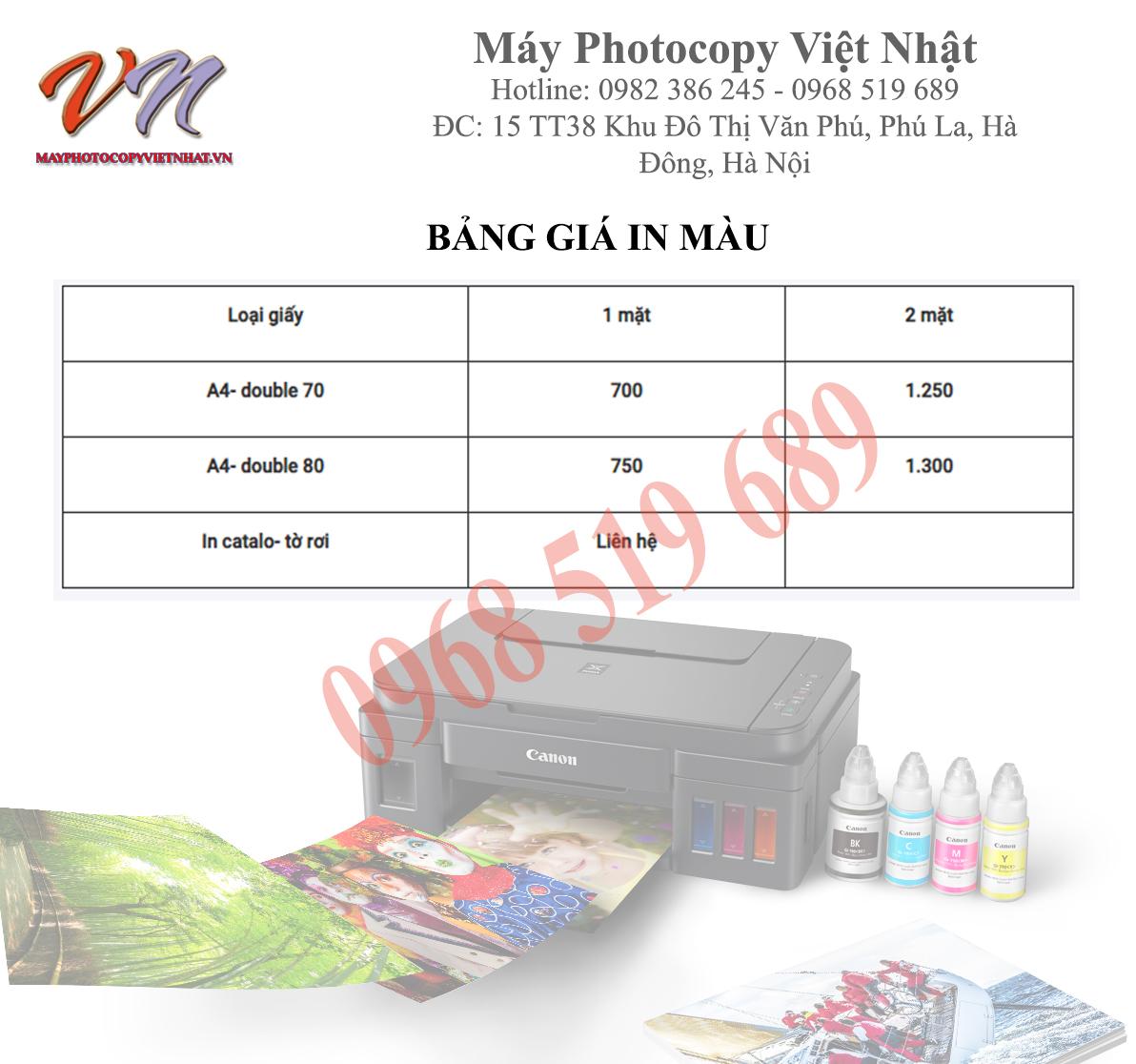 Dịch vụ in màu giá rẻ tại Hà Nội